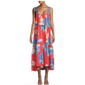 Free People Moonshine Midi Linen Blend dress